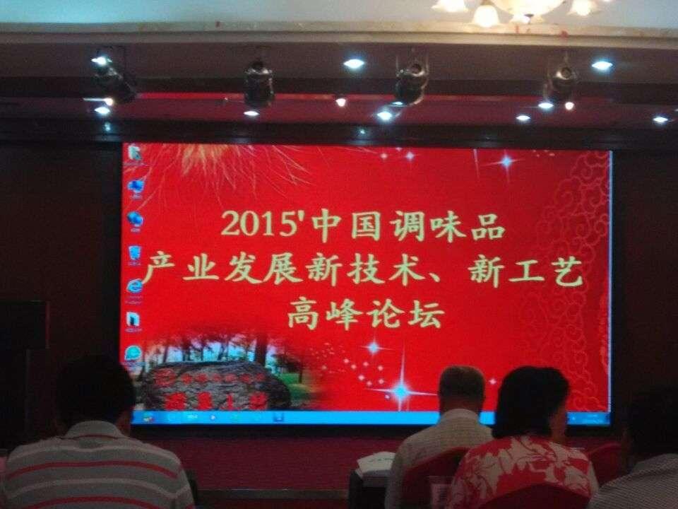 2015中国调味品产业发展新技术、新工艺高峰论坛
